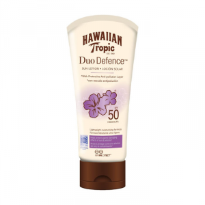 Hawaiian Tropic Duo Defence Sun Lotion Spf50 180ml