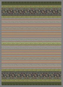 Bassetti Granfoulard Plaid Coperta CERVINO var. 6 180x250 verde-grigio