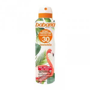 Babaria Tropical Sun Sunscreen Spray Invisible Wet Skin Spf30 200ml