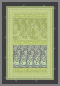 Bassetti Plaid Granfoulard 135x190 cm SCAURI var.2 verde regalo originale