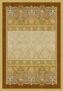 Bassetti Plaid Granfoulard 135x190 cm GRAN PARADISO var.6 ocra regalo originale