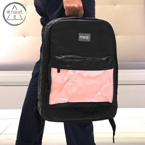 me1st - Zaino Paper Tyvek - Nero Pink
