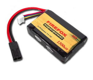 BATTERIA SOFTAIR LI-PO 11,1V 1300 MAH 20C SMALL ANPEQ - FIREFOX