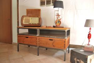 Mobile porta TV vintage industriale