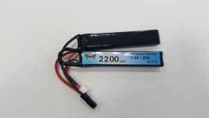 Black Storm 2200mAh Lipo 7.4V 20C Nunchuck 12x20x102mm x 2