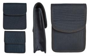 Borsetto imbottito in cordura, multi-tasca, con chiusura a velcro 13x12x3,5 cm