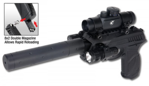 GAMO PT-85 TACTICAL BLOWBACK A<7,5 C.N 355 CL.4,5 CO2