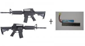 King Arms M4A1 Ultra Grade + Lipo Black Storm 7,4V 1100mAh