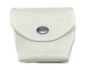 Porta manette in cordura chiuso Bianco