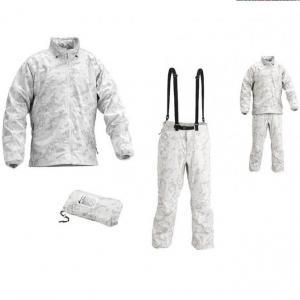 Set giacca + pantaloni in polyammide italian Winter camo (TG. L)