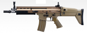 TOKYO MARUI SCAR L CQC FDE SHOCK AND RECOIL