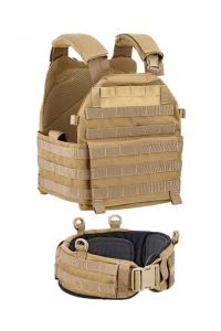 VEST CARRIER CON CINTURONE 1000D TAN