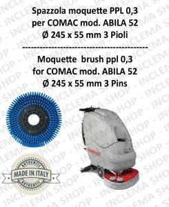 BROSSE MOQUETTE ppl 0,3 pour autolaveuses COMAC mod. ABILA 52 con 3 pioli