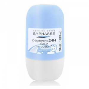 Byphasse Deodorant Roll On 24h Cotton Flower 50ml