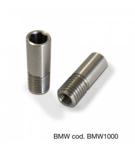 Coppia adattatore specchi a manubrio Barracuda Nero per BMW