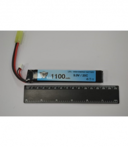 Black Storm 1100mAh Li-Fe 9.9V 20C stick 19.4 x 21.0 x 126.0mm