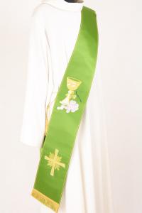 Stola Diaconale SD7 M0 Verde - Faille Misto Lana