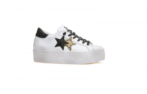 Sneaker para high donna 2Star bianca