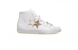 Sneaker high 2star uomo bianco/taupe