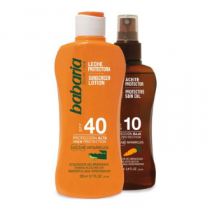 Babaria Aloe Sunscreen Lotion Spf40 200ml Set 2 Parti 2018