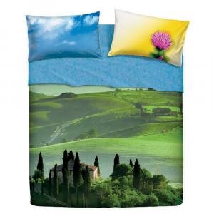 Set lenzuola matrimoniali 2 piazze BASSETTI BEAUTIFUL PLACE effetto copriletto