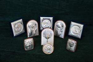 Icone sacre per battesimo, comunione e cresima in Argento