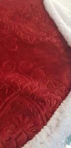 Plaid in pile 130x160 cm Mary jacquard effetto agnellato rosso