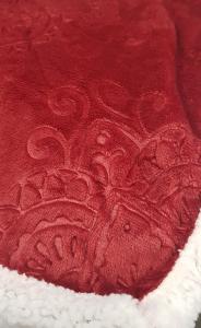Plaid in pile matrimoniale 210x240 cm Mary jacquard agnellato rosso