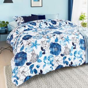 Set copripiumino matrimoniale BEDDING HOUSE Floral Sketch floreale blu