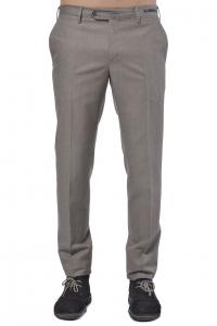 Pantalone uomo PT01 in fresco lana e lino marrone  ac521340d01