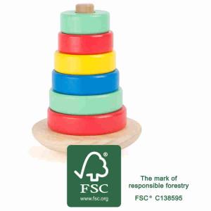 Torre da accatastare in legno Gioco per bambini Movere Legler