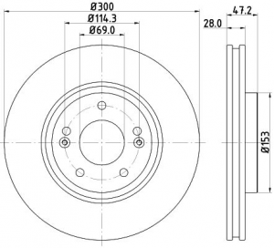 Disco freni anteriori HYUNDAI IX35, i40 ORIGINALI