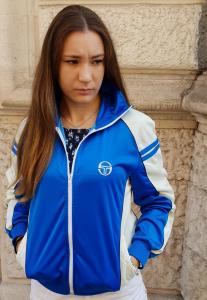 GIACCA FELPA VINTAGE DONNA ANNI 90 SERGIO TACCHINI TENNIS