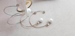 Orecchini alla moda cerchio e perlina