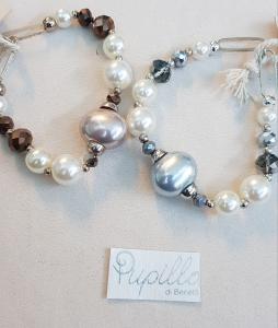 Bracciale alla moda con perle e palline