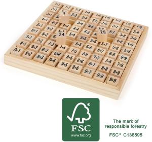 Imparare le tabelline Abaco in legno