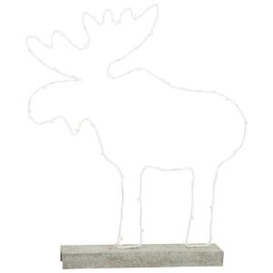 Alce illuminato in metallo Decorazione Natalizia