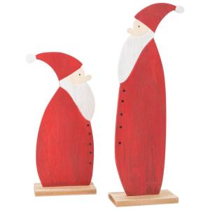 Babbo Natale da decorazione in legno Decorazione Natalizia