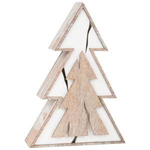Albero illuminato, design tronco d'albero Lampada Decorazione Natalizia
