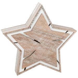 Stella illuminata, piccola, design tronco d'albero Decorazione Natalizia