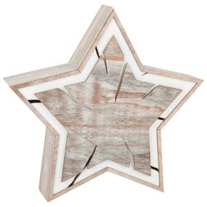 Stella illuminata, design tronco d'albero Decorazione Natalizia