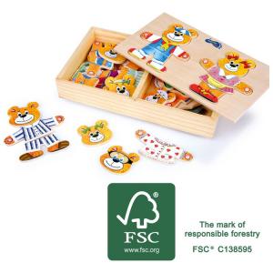 Puzzle in legno Orsetti da vestire