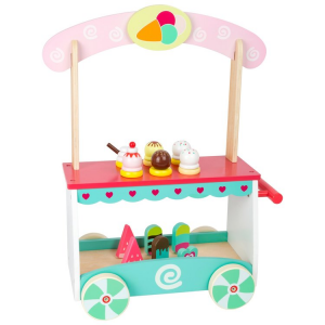Carretto dei gelati in legno accessorio cucina giocattolo