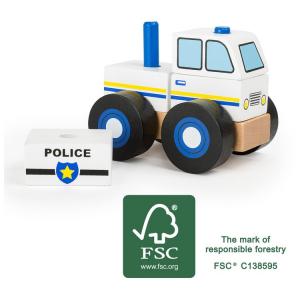 Veicolo da costruire Polizia in legno