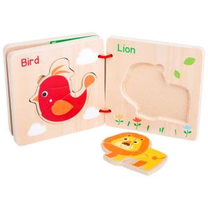 Libro puzzle in legno Animali Gioco per bambini