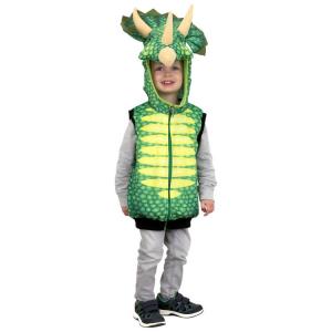 Costume-gilet per Carnevale bambini Dinosauro Triceratopo