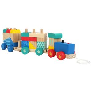 Trenino in legno Gioco ad incastro per bambini