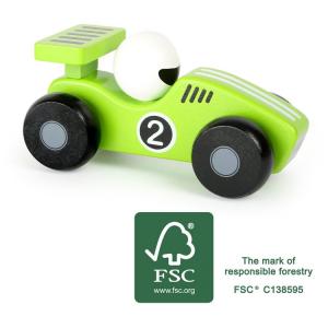 Veicolo macchina in legno gioco per bambini Bolide verde