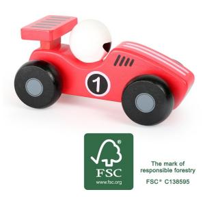 Veicolo macchina in legno gioco per bambini Bolide rosso