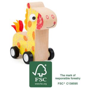 Veicolo giocattolo a trazione Giraffa